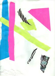 Painting with paper activity example.